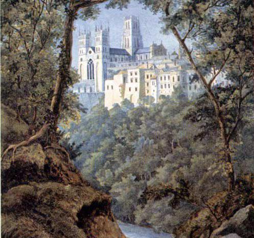 Durham Cathedral, watercolour by Felix Mendelssohn