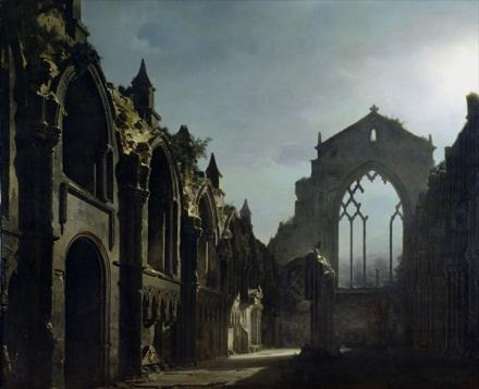 Daguerre painting of Holyrood Chapel