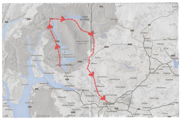 Loch Lomond, Loch Katrine and Glasgow